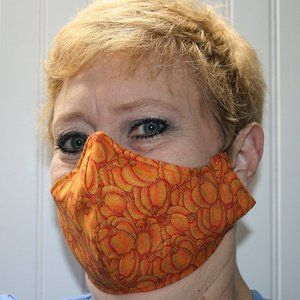HANDMADE Cloth Thanksgiving Pumpkin Face Mask